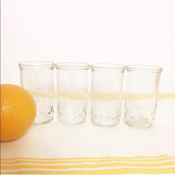 COPY - Set of 4 VTG Juice Glasses/Jelly Jar MCM K…